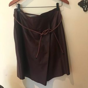 Robert Rodriguez dark burgundy leather skirt